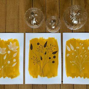 Triptyque moutarde - 5012021, 4012021 et 6012021 - 21x29,7cm