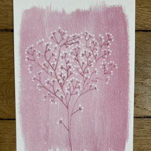 carte postale cerisier du japon