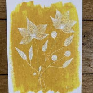 "carte postale ""une pointe de moutarde"""