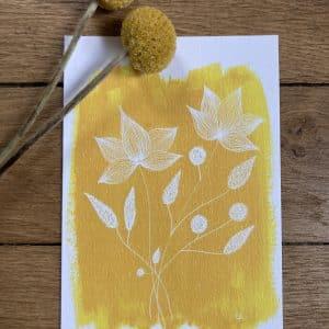 carte postale une pointe de moutarde 10x15